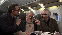 Christian Slater, Glenn Close &amp; Jonathan Pryce in The Wife (2017)<br /> *Filmstill - Editorial Use Only*<br /> CAP/RFS<br /> Image supplied by Capital Pictures