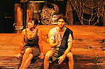 Josh A. Davis & Colleen Zenk - Odysseus - Dress Rehearsal of Odyssey - The Epic Musical  on October 21, 2011 at the American Theatre of Actors, New York City, New York. (Photo by Sue Coflin/Max Photos)