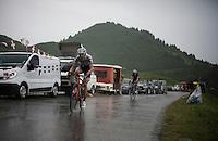Frank Schleck (LUX/Trek-Segafredo) coming down the Col de Joux Plane (HC/1691m/11.6km/8.5%)<br /> <br /> Stage 20: Megève › Morzine (146.5km)<br /> 103rd Tour de France 2016