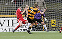 30/04/2008   Copyright Pic: James Stewart.File Name : sct_jspa01_alloa_v_clyde.ANDY SCOTT SCORES ALLOA'S FIRST.James Stewart Photo Agency 19 Carronlea Drive, Falkirk. FK2 8DN      Vat Reg No. 607 6932 25.Studio      : +44 (0)1324 611191 .Mobile      : +44 (0)7721 416997.E-mail  :  jim@jspa.co.uk.If you require further information then contact Jim Stewart on any of the numbers above........