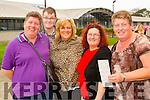 Bernadette O'Sullivan (Abbeydorney), Paudie O'Riordan (Ardfert), Mary Joe Cussan (Broadford), Phil Dunleavy (Broadford) and Geraldine Stack (Abbeydorney) attending the Monster Bingo at Mercy Mounthawk Secondary School, Tralee on Sunday afternoon last.