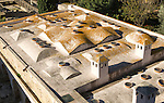 Roof of Moorish bathhouse building Alcazar, Jerez de la Frontera, Spain