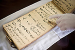 A record book dating back 300 years documents how miso was made at Maruya Hatcho Miso Co., in Okazaki City, Aichi Prefecture Japan on 11 Dec. 2012. Photographer: Robert Gilhooly