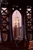 "#JP0566 ""Empire State Bldg & Manhattan Bridge - New York"