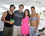 Bryan Craig, Chad Duell, Kristen Alderson, Kelly Thiebaud donated time at 15th Southwest Florida Soapfest 2014 Charity Weekend - at Cruisin' and Schmoozin' on May 25, 2104 aboard the Marco Island Princess (boat), Marco Island, Florida.  (Photo by Sue Coflin/Max Photos)