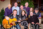 Mary O'Leary and Killarney musicians who are holding a dance in aid of the Earthquake victims in Nepal in the Gleneagle Hotel on January 8th, front l-r: Donal Shine, Mary o'Leary, Annie O'Leary. Back row: Peter Fleming, Paddy O'Shea, Joe Quinlan, Cathal Walshe, Joan Greene and Dermot Flynn