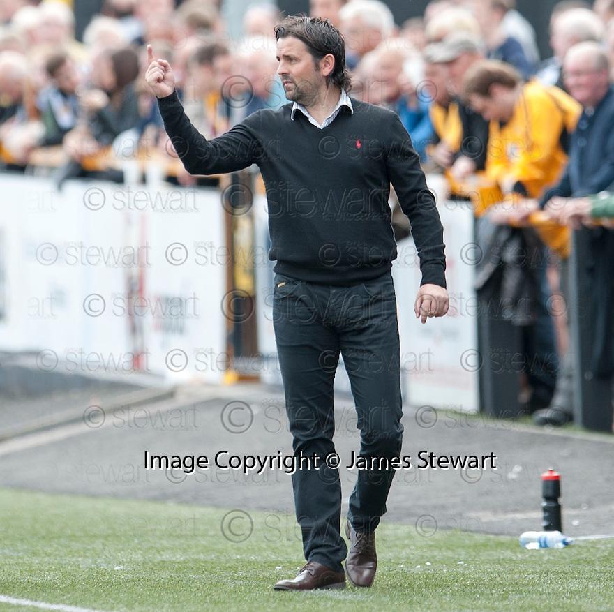 Alloa Manager Paul Hartley.