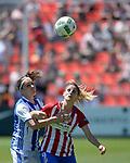 Atletico de Madrid Femenino's Esther Gonzalez (r) and Real Sociedad's Itxaso Uriarte during Liga Femenina Endesa - Women League match. May 20,2017. (ALTERPHOTOS/Inma Garcia)