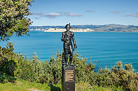 Captain Cook (?) Statue Gisborne NZ. North Island New Zealand.