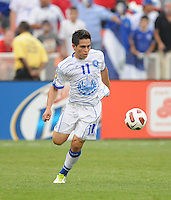 El Salvador Rodolfo Zelaya (11)   Panama defeated El Salvador in penalty kicks 5-3 in the quaterfinals for the 2011 CONCACAF Gold Cup , at RFK Stadium, Sunday June 19, 2011.