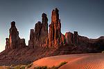 Totem Poles at Sunrise