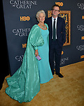 "Helen Mirren, Philip Martin 028 attends the Los Angeles Premiere Of The New HBO Limited Series ""Catherine The Great"" at The Billy Wilder Theater at the Hammer Museum on October 17, 2019 in Los Angeles, California."