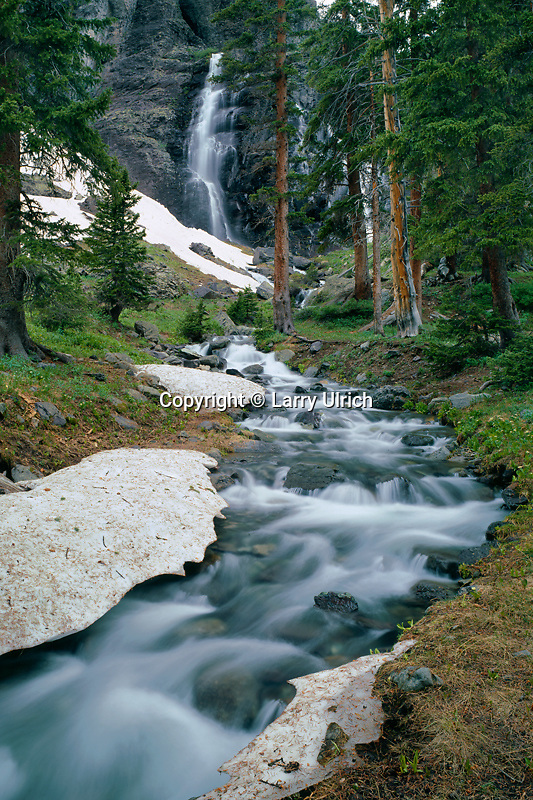 Waterfall in Lower Ice Lake Basin<br />