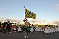 SÃO PAULO, SP, 28 DE JANEIRO DE 2012 - ENSAIO TÉCNICO PERUCHE - Ensaio técnico da Escola de Samba Unidos do Peruche na praparação para o Carnaval 2012. O ensaio foi realizado na noite deste sabado no Sambódromo do Anhembi, zona norte da cidade. FOTO: LEVI BIANCO - NEWS FREE