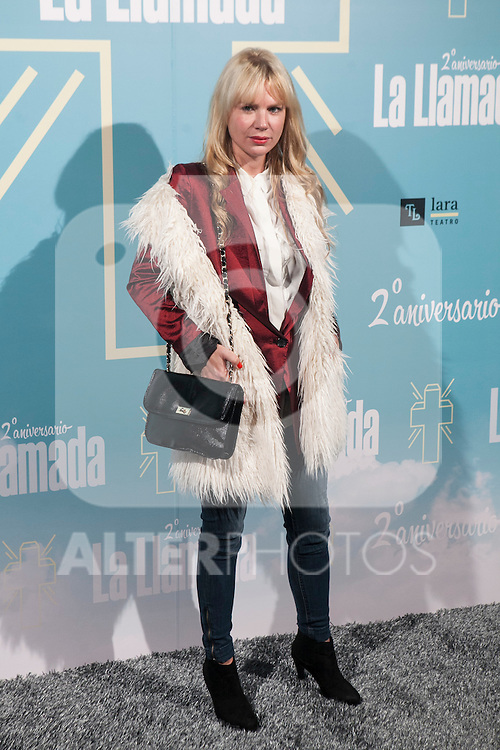 attends La Llamada theater play in Madrid, Spain. April 15, 2015. (ALTERPHOTOS/Victor Blanco)