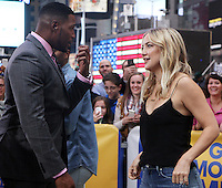 NEW YORK, NY-September 28: Michael Strahan and Kate Hudson at Good Morning America in New York City on September 28, 2016. Credit: RW/MediaPunch