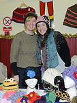 Miriam and Clare O'Toole pictured at the christmas craft fair in Clogherhead community hall. Photo:Colin Bell/pressphotos.ie