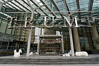 Entrance to Trump International Hotel and Tower on Georgia Street in downtown Vancouver, British Columbia, Canada