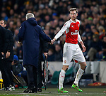 Per Mertesacker of Arsenal goes off with a head injury - English FA Cup - Hull City vs Arsenal - The KC Stadium - Hull - England - 8th March 2016 - Picture Simon Bellis/Sportimage