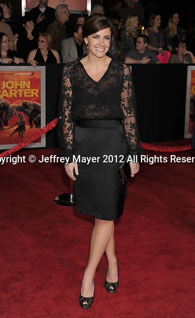 LOS ANGELES, CA - FEBRUARY 22: Lindsey Collins attends the 'John Carter' Los Angeles premiere held at the Regal Cinemas L.A. Live on February 22, 2012 in Los Angeles, California.