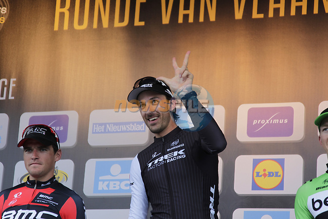 Fabian Cancellara (SUI) Trek Factory Racing wins the 2014 Tour of Flanders, Oudenaarde, Belgium.<br /> Picture: Eoin Clarke www.newsfile.ie