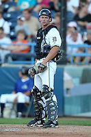 West Michigan Whitecaps catcher Rob Brantly (28) during a game vs. the Fort Wayne TinCaps at Fifth Third Field in Comstock Park, Michigan August 18, 2010.   Fort Wayne defeated West Michigan 5-1.  Photo By Mike Janes/Four Seam Images