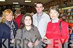 BOOK LAUNCH: Enjoying the launch of Owen O'Shea new book Heirs to the Kingdom at O'Mahony's book shop, Tralee on Friday l-r: Kathleen Collins, Beatrice Caball, Jimmy Moloney and Kay Caball.