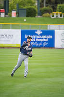 Mike Freeman (1) of the Reno Aces before the game against the Salt Lake Bees in Pacific Coast League action at Smith's Ballpark on May 10, 2015 in Salt Lake City, Utah. Salt Lake defeated Reno 9-2 in Game One of the double-header.  (Stephen Smith/Four Seam Images)