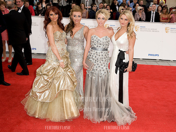 Amy Childs, Lauren Goodger, Lydia Bright and Sam Faires arrives for the BAFTA TV Awards at the Grosvenor House Hotel, London. 22/05/2011  Picture by: Simon Burchell / Featureflash