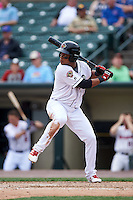 Rochester Red Wings second baseman Jorge Polanco (11) at bat during a game against the Indianapolis Indians on May 26, 2016 at Frontier Field in Rochester, New York.  Indianapolis defeated Rochester 5-2.  (Mike Janes/Four Seam Images)