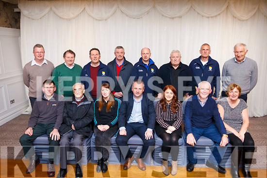 The incoming Committee elected at the Coiste na n&Oacute;g AGM in the Rose Hotel, Tralee are.<br /> Seated L to R: Reggie Griffin, Billy Broderick, Mags Evans (Sec), Tom Keane (Chairman), Trina Brassil, Tadgh Hollaran &amp; Siobhan O'Mahoney.<br /> back row l to r: Damien McCarthy (PRO), Timmy Weir, Ger Hussey, Dereck Daly, Ger Lynch, Ger Hannafin, John Ross and Kieran Coffey.