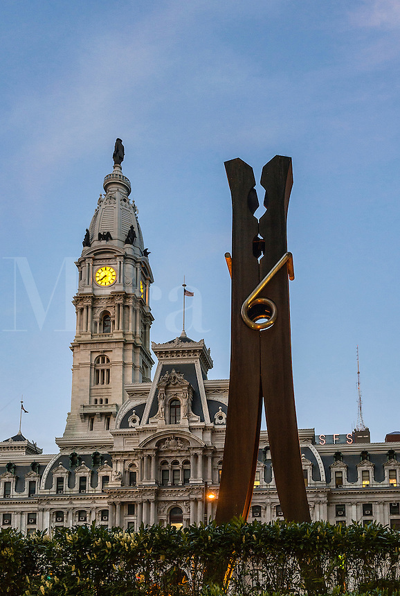 Clothespin sculpture, Philadelphia, Pennsylvania, USA,