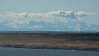 Alaska Range across Cook Inlet from Anchorage.