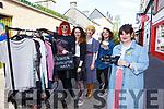 Hazel O'Malley, with l-r: Ciara O'Connor, Nickki Leahy, Bronwyn Connolly and Alex O'Neill at the Swap shop in Killarney on Sunday