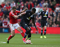 Blackburn Rovers' Lucas Joao and Nottingham Forest's Chris Cohen<br /> <br /> Photographer Stephen White/CameraSport<br /> <br /> The EFL Sky Bet Championship - Nottingham Forest v Blackburn Rovers - Friday 14th April 2016 - The City Ground - Nottingham<br /> <br /> World Copyright &copy; 2017 CameraSport. All rights reserved. 43 Linden Ave. Countesthorpe. Leicester. England. LE8 5PG - Tel: +44 (0) 116 277 4147 - admin@camerasport.com - www.camerasport.com