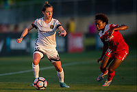 Boyds, MD. - Saturday, June 24 2017:  Meghan Klingenberg, Francisca Ordega during a regular season National Women's Soccer League (NWSL) match between the Washington Spirit and the Portland Thorns FC at Maureen Hendricks Field, Maryland SoccerPlex.<br />  The Washington Spirit defeated the Portland Thorns FC 1-0.