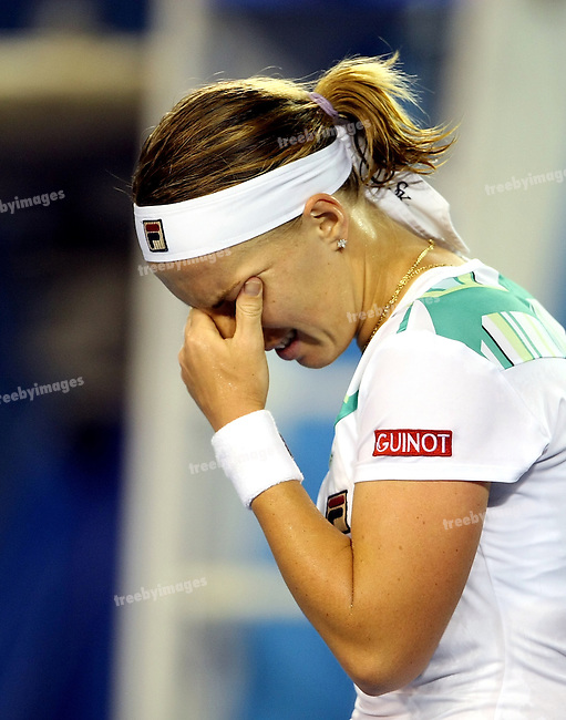 Svetlana Kuznetsova (RUS) is defeated by  Serena Williams (USA) on day 10 of the Australian Open Tennis , 28-1-09