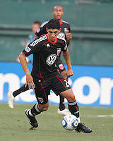Pablo Hernandez #21 of D.C. United during an international friendly match against Portsmouth FC at RFK Stadium on July 24 2010, in Washington D.C.United won 4-0.