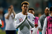 Dele Alli of England celebrates after the UEFA Euro 2020 Qualifying Group A match  <br /> Podgorica 25-3-2019 <br /> Football Euro2020 Qualification Montenegro - England <br /> Foto Daniel Chesterton / PHC / Insidefoto <br /> ITALY ONLY