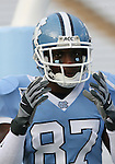 16 September 2006: North Carolina's Brandon Tate. The University of North Carolina Tarheels defeated the Furman University Paladins 45-42 at Kenan Stadium in Chapel Hill, North Carolina in an NCAA College Football game.