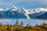 Port Wells, Chugach mountains, Cascade glacier, Chugach National Forest, Prince William Sound, southcentral, Alaska.