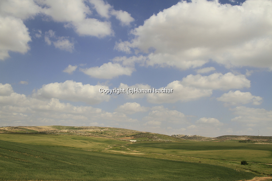 Israel, Southern Hebron Mountains, a view of Sansana area