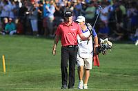 Rory McIlroy (NIR) walks onto the 18th green during Sunday's Final Round of the 2012 Omega Dubai Desert Classic at Emirates Golf Club Majlis Course, Dubai, United Arab Emirates, 12th February 2012(Photo Eoin Clarke/www.golffile.ie)