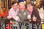 BIKE: Niamh and Mary White (Ballyduff) and Sarah Casey (Causeway) going for a bike ride on one of the Quadbikes which were on display at the Kerry Homes and Garden Show in Tralee on Saturday..