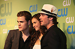 Paul Wesley - Nina Dobrev - Ian Somerhalder The Vampire Diaries at the CW Upfront 2009 on May 21, 2009 at Madison Square Gardens, New York NY. (Photo by Sue Coflin/Max Photos)