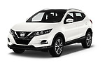2017 Nissan Qashqai N Connect 5 Door SUV angular front stock photos of front three quarter view