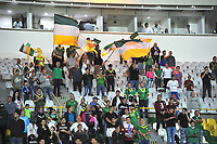 ARMENIA - COLOMBIA, 02-03-2020: Hinchas del Deportes Quindio.Deportes Quindío y Orsomarso en partido por la fecha 5 del Torneo BetPlay DIMAYOR I 2020 jugado en el estadio Centenario de la ciudad de Armenia. / Fans of  Deportes Quindio.Deportes Quindio and Orsomarso in match for the date 5 as part of BetPlay DIMAYOR Tournament I 2020 played at Centenario stadium in Armenia city. Photo: VizzorImage / Ricardo Vejarano / Cont