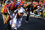 """Children attend the traditional """"Silletero"""" parade during the Flower Festival in Medellin August 7, 2012. Photo by Eduardo Munoz Alvarez / VIEW."""