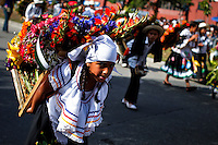 "Children attend the traditional ""Silletero"" parade during the Flower Festival in Medellin August 7, 2012. Photo by Eduardo Munoz Alvarez / VIEW."