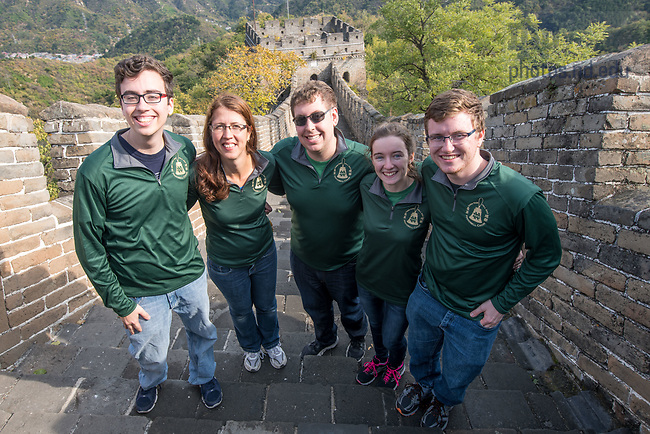 October 15, 2017; College of Engineering students visit the Great Wall of China. (Photo by Matt Cashore/University of Notre Dame)